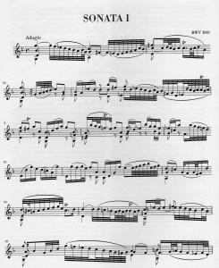 Adagio Sonata I BWV 1001
