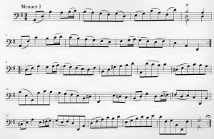 Menuet Suite I BWV 1007